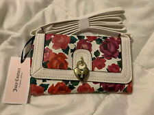NEWT Juicy Couture Charm School Mini Crossbody Bright Pink Floral handbag