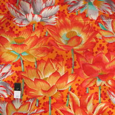 Philip Jacobs PWPJ081 Leopard Lotus Orange Cotton Quilting Fabric By Yard