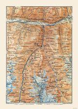 Stalden Switzerland - Baedeker 1921 - 23.00 x 32.01