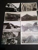 8 Vintage photo POSTCARDS MEXICO AZTEC MAYAN RUINS PYRAMIDS post card RPPC