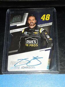 2018 Panini Prime Racing Jimmie Johnson *Prime Numbers* Autograph Card #/25!!