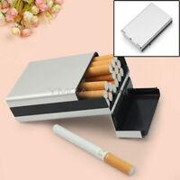 Travel Aluminum Cigar Cigarette Tobacco Case Storage Holder Pocket Box Silver
