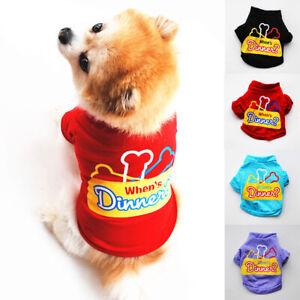 Dog Bone Printed Comfortable Cat Dog Clothes T-shirt Summer Pet Clothing T-shirt