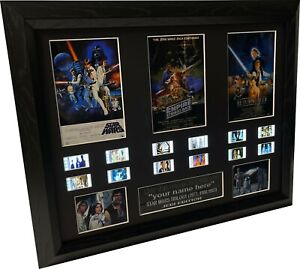 CUSTOM Signed - Star Wars Trilogy  filmcell  (with Lightbox upgrade option)