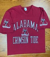 Vintage 90s University Alabama Crimson Tide Shirt Sz L SEC Tuscaloosa Roll Tide