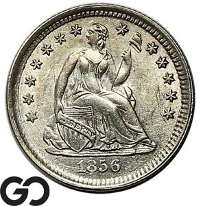 1856 Seated Liberty Half Dime, Lustrous BU++ Collector Type Coin