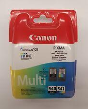 2 originales cartucho Impresión canon Pg540 Cl541 Pixma Mx375 Mx395 Mx435 Mx475