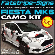 FORD FIESTA MK6 GRAPHICS CAMO STICKERS DECALS BONNET ROOF CAMOUFLAGE ST ZETEC RS