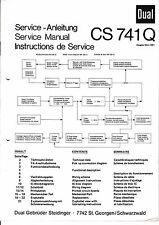 Service Manual-Anleitung für Dual CS 741 Q