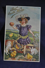 1909 Best Easter Wishes Postcard