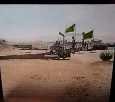 c1910 Superb Image of CAR FERRY in SUEZ EGYPT Glass Lantern Photo Slide