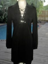 Pucci CUTE Little Blk Dress w/Lace-Up Silk Ties  NWT LBD F  4 IT38 S