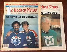 Vintage 1980-82 Hockey News Lot X 2 Gordie Howe Wayne Gretzky Grant Fuhr
