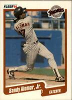 1990 Sandy Alomar Jr. Fleer Baseball Card #150