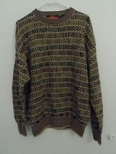 Vintage Stone Haven Sweater Multicolor Size L Large Ramie Cotton Men's