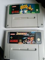 Super Nintendo Starwing And Super Soccer Games