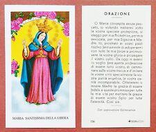 Santino Holy Card: Maria Santissima della Libera - Ed. EGIM 136