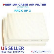 PACK OF 2 CABIN AIR FILTER FOR 2011 - 2018 DODGE DURANGO & JEEP GRAND CHEROKEE