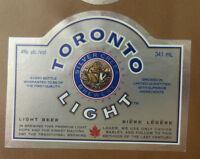 VINTAGE CANADIAN BEER LABEL - SLEEMAN BREWERY, TORONTO LIGHT BEER 341 ML