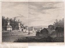 1840 Pompei strada dei sepolcri grande acquaforte Cuciniello e Bianchi