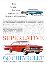 CHEVROLET 60 IMPALA RETRO A3 POSTER PRINT FROM ADVERT 1960