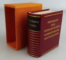 Mini libro: programa del PSU Offizin andersen Nexö 1977 libro 1542