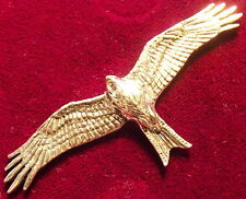 Quality Pewter Falcon Red Kite Falconry Brooch Pin
