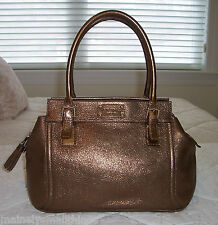 NWT KATE SPADE CHELTENHAM EW ADDISON Shoulder Bag Shiny Metallic Leather BRONZE