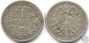 ALLEMAGNE EMPIRE 1 MARK ARGENT 1873 D !!!!!