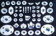 50 set Miniature Porcelain Dinner set 1:12 scale