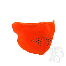 High Visibility Neon Blaze Hunter Orange Half Neoprene Face Mask Biker ATV Ski