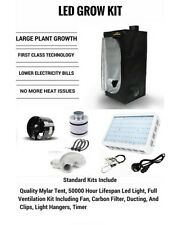 LED Grow Tent Kit, Complete LED Indoor Growing System, 80x80x160 Tent, Soil etc