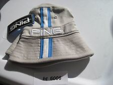Ping Bucket Hat Flex Fit Grey/Electric Blue S/M NEW # ht 6006