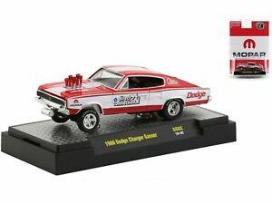 "1966 DODGE CHARGER GASSER RED/WHITE ""MOPAR"" 1/64 DIECAST MODEL CAR M2 31600-GS02"