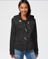 Celebrity Pink Juniors' Hooded Toggle Peacoat Charcoal XS Retail $89 Macy's