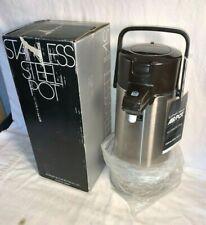 Vtg Zojirushi Vacuum bottle ELEPHANT BRAND AIR POT New in Box STAINLESS STEEL