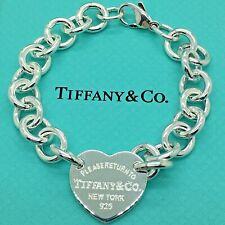 Sterling Silver Pulsera CHARM CORAZÓN AG 925 Genuine Tiffany & Co. bag