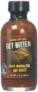 Get Bitten Black Mamba 6 Hot Sauce by CaJohns Fiery Foods