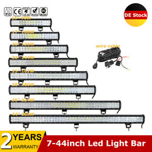 "7-44"" ZOLL 288W 126W LED Lightbar Lichtbalken Arbeitsscheinwerfer ATV SUV 12-24V"