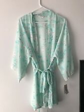 Flora by Flora Nikrooz Imagine Chiffon Kimono Robe, Light Blue, Sz. L/XL