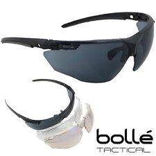 Bolle Tactical FURY Military Army Airsoft Pro Shooting Glasses 3 Lens Kit NEW