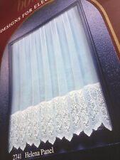 """LACE BASE NET CURTAIN+SALE+160"""" WIDE x 36"""" DROP+QUALITY SCOTTISH LACE+READY MADE"""