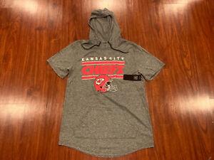 NFL Men's Kansas City Chiefs Helmet Short Sleeve Hoodie Jersey Shirt Large L