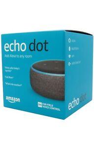 Amazon Echo Dot 3rd Generation 3rd Gen with Alexa Voice Smart Speaker Charcoal