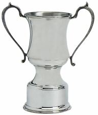 Traditional Style Sporting Presentation Trophy 8inch Polished Pewter Engravable