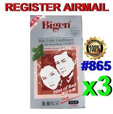 Japan Bigen Speedy Hair Dye Hair Color Conditioner Reddish Brown #865 x 3 set