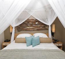 De Lujo Algodón Caja Mosquitera cama dosel Super King Size 100% Algodón