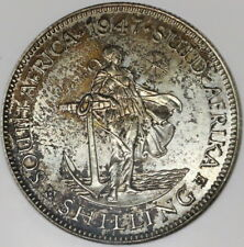 1947 NGC PF 62 SOUTH AFRICA Proof Silver Shilling BU Coin (17062404C)