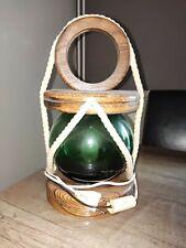 Lampe lanterne fanal déco marine style flotteur verre bouée