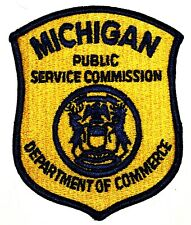 MICHIGAN – PUBLIC SERVICE COMMISSION – MI Sheriff Police Patch DEPT COMMERCE ~